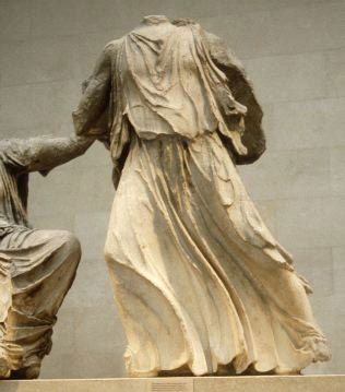 Parthenon, East pediment: Figure G ('Artemis', 'Eileithyia' or messenger)